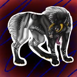 wolf payment art digital