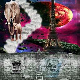 freetoedit light sky moon elephant
