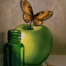 freetoedit painting salvadordali ircgreenglassbottle greenglassbottle