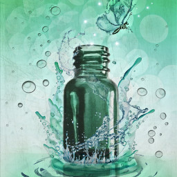 freetoedit ircgreenglassbottle greenglassbottle editedbyme water