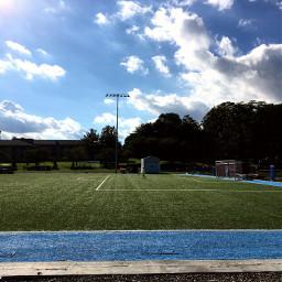 freetoedit soccerfield soccer goal blue daytime