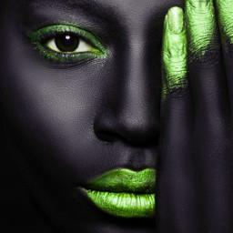 black face glittermakeup digitaledit freetoedit