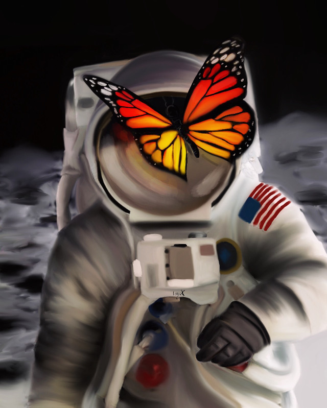 Sorry I have not that much time at the moment for new artworks😔 #icyx #painting #drawing #astronaut #moon #planet #galaxy #butterfly #unreal #atmosphere #picsart @picsart #bestofpicsart