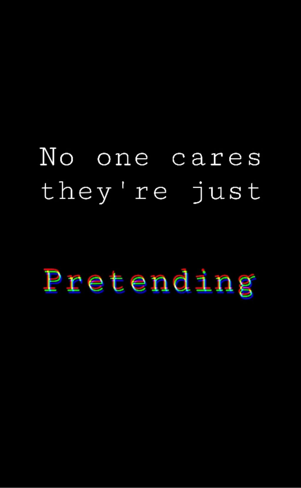 No one cares.. theyre just pretending 😔