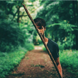 man hide magic forest freetoedit