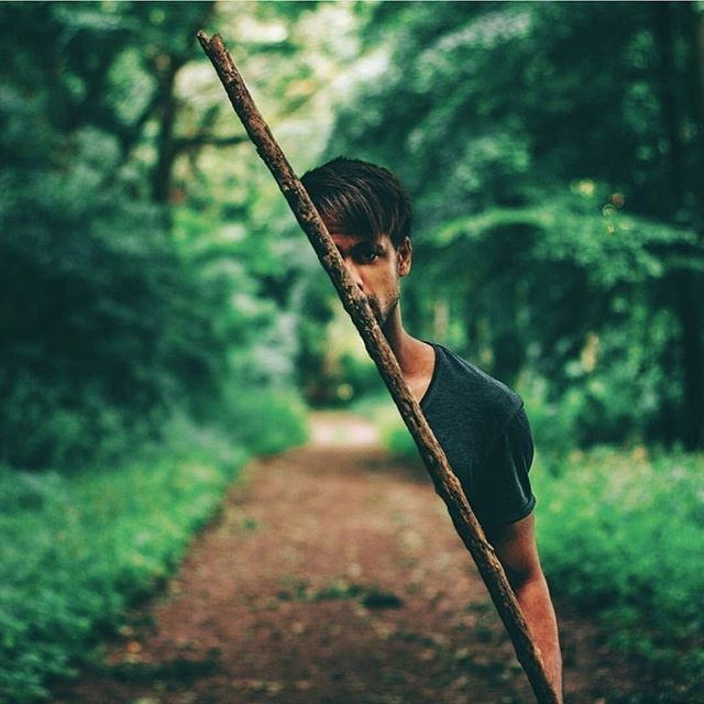 #man #hide #magic #forest #freetoedit