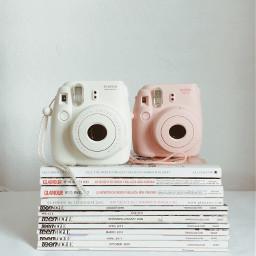 instaxmini8 camera magazine pastelcolors