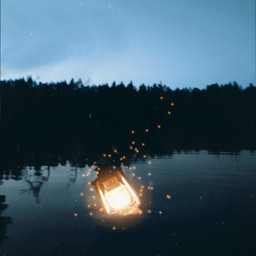 freetoedit lantern light water magicbrush ftestickers