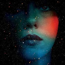 face color girl black star