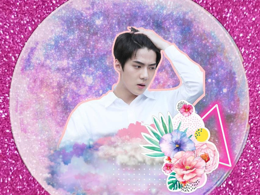 #sehun #sehunie #pink #galaxy #picsart #fanartofsehun #luv