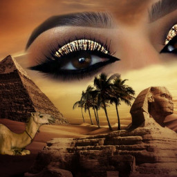 pyramid camel egyptian eyes desertsunset freetoedit