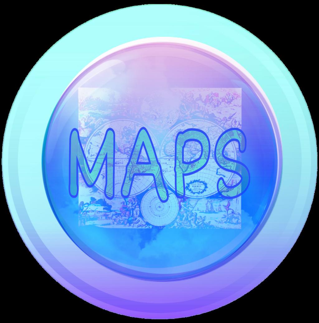 #maps #button #blue