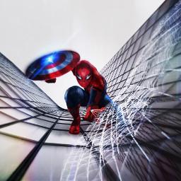 freetoedit spiderman spiderweb shield ftestickers