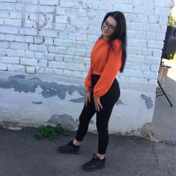 fashion freetoedit orangeaesthetic orangeremix remixme