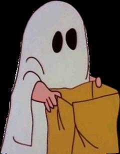 asthetic sad charliebrown ghost tumblr freetoedit