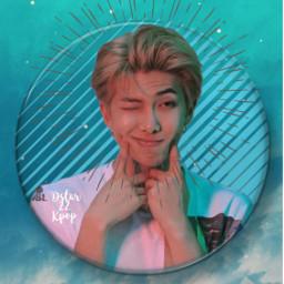 freetoedit rm namjoon BTS kpop blue