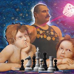 chess surreal angel cherub strongman ircfineartfridayr freetoedit