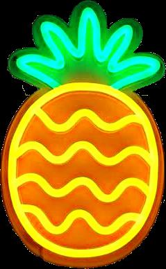 neon sign lights pineapple freetoedit