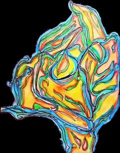 freetoedit leafshape colorful