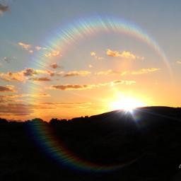 sunset sunrays sunflare horizone nationalpark