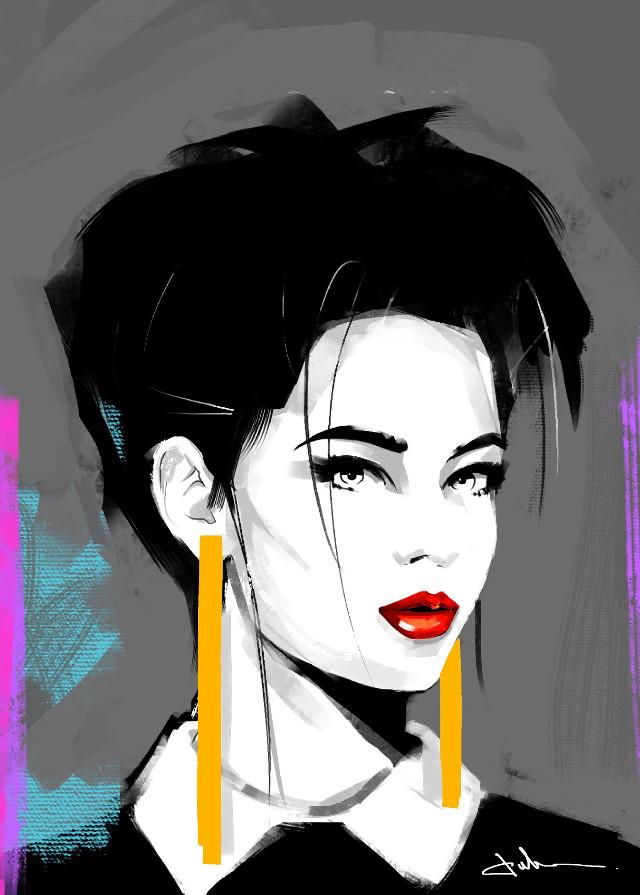 #punksy #artist #painter #illustrator #drawing #artdeco #patricknagel #retrowave #newretrowave #synthwave #synthpop #synth #80s #fashion #moda #makeup #shorthair