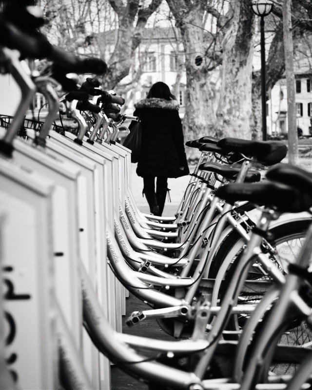 #freetoedit#bikes#interesting #italy #blackandwhite#blackandwhitephoto#blackandwhitephotography#rearview#streetphoto#streetphotography#perspectives#peoplephotography#bnw#bycicle