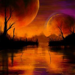 lago lunas moon night noche dcmydreamland