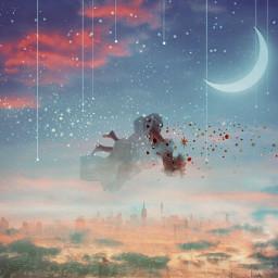 freetoedit fantasy dreamy ethereal falling