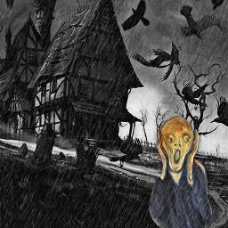 freetoedit munch scream scary gothic ircfineartfridayem
