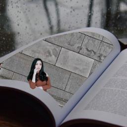 freetoedit girl book imagine winter