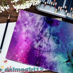 irccardmakingday cardmakingday freetoedit galaxybackground drawinggirl