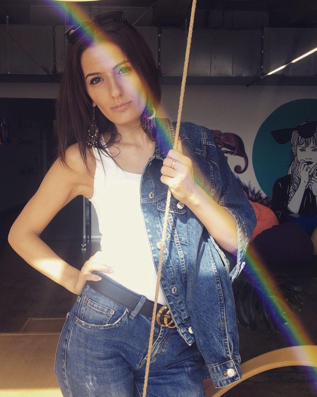 #freetoedit #MadeWithPicsArt #rainbow #rainbowbrush #edited  #photography #girl #standing #interesting