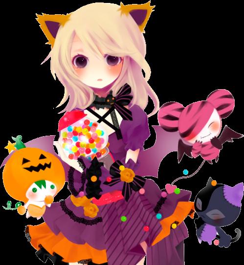 freetoedit halloween animegirl neko cuteevilcreatures