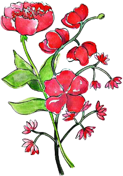flowers red sticker floral freetoedit