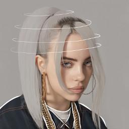 billieeilish grey outline edit queen