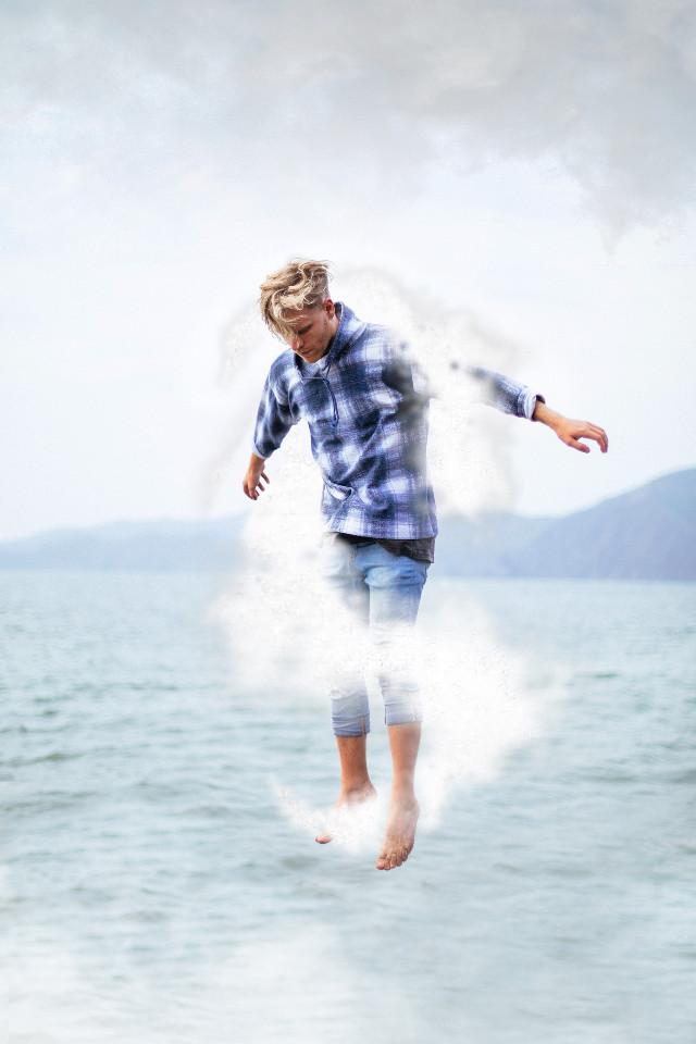 Float away #inktoberinspiration (Flow) • #freetoedit #remixit #fly #cloud #magic
