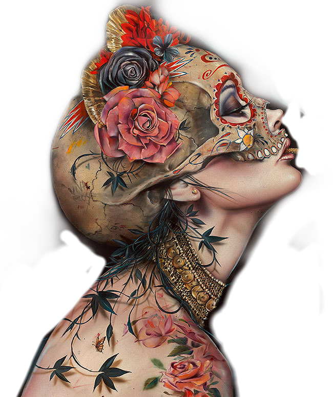 #mask #skull #lady #woman #beautiful