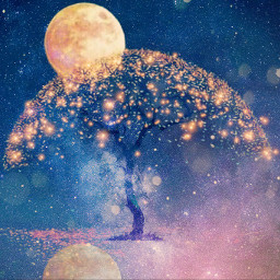 freetoedit sky tree moon treeoflive irccosmicbrilliance