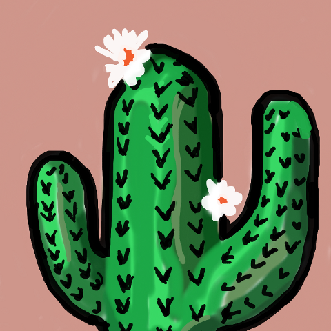 Cactus Draw Challenge On Picsart