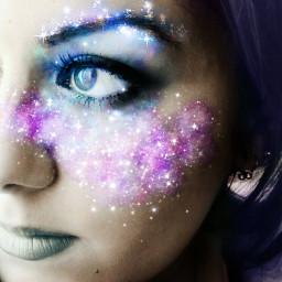 freetoedit star girl astronomyday2018 space