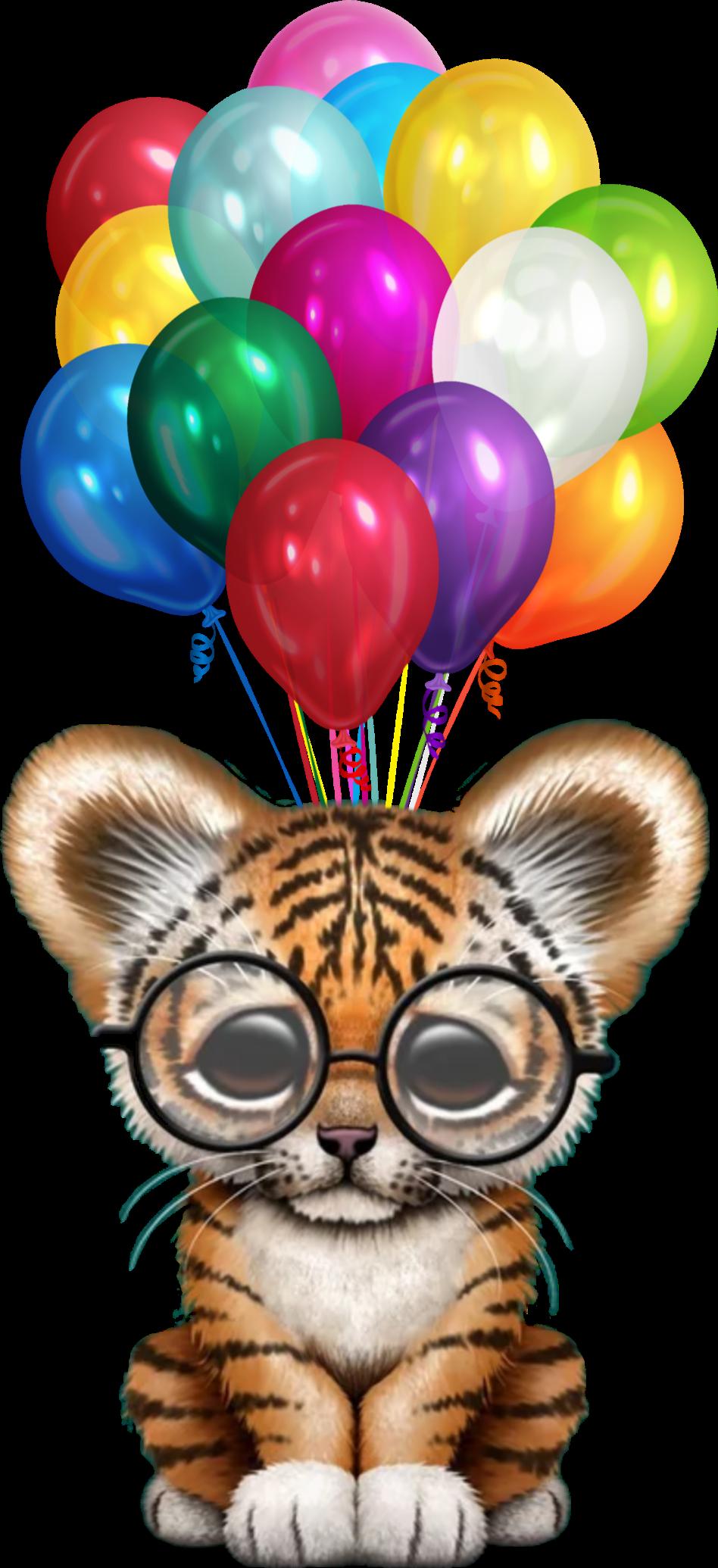 #tiger #balloons