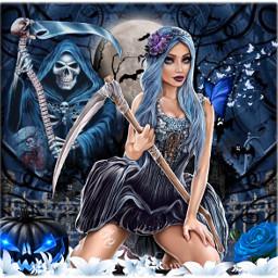 freetoedit myedit halloween reaper pretty