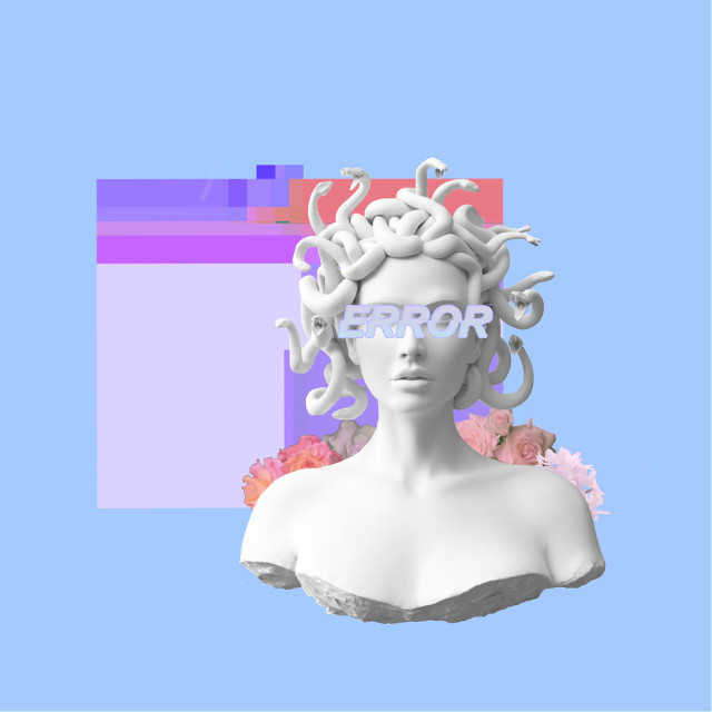 #freetoedit #vaporwave #pastel #aesthetic #glitch #statue #flowers #pink #cute #cool #blue #pink #orange #purple