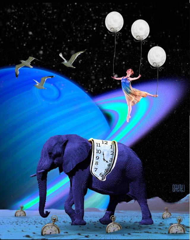 #freetoedit #blueelephant #interesting #surrealart #myart #myedit #madewithpicsart #picsart
