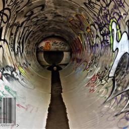 tunnel graffiti tagging barcode