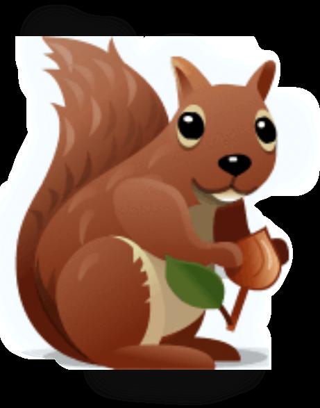 Картинка анимация белочка с орешками