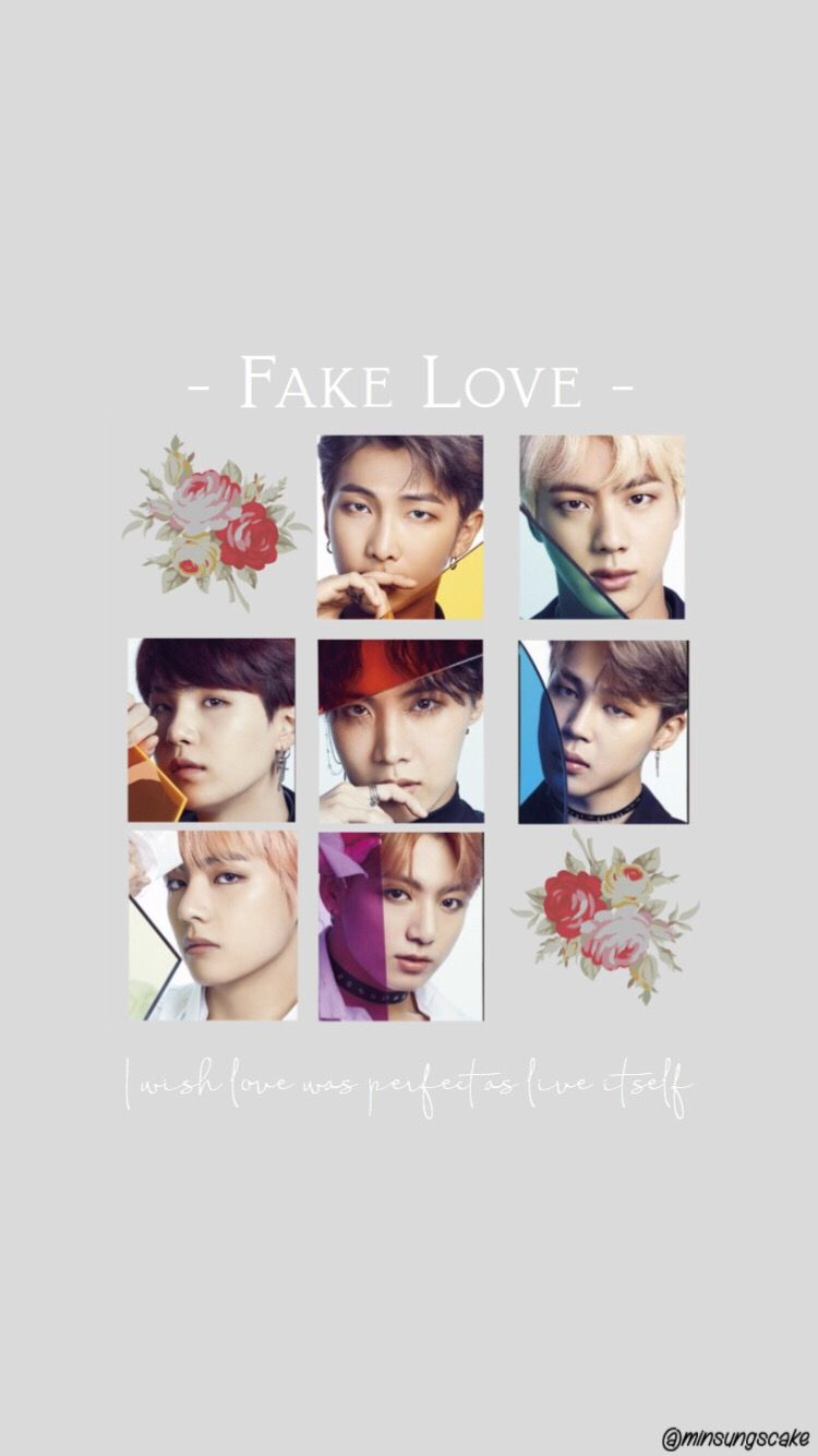 Here Is A Fake Love Wallpaper It Was Inspired By Somet
