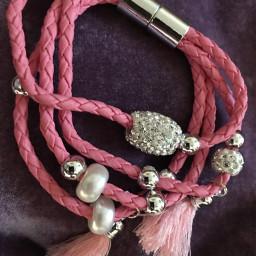 pcjewelry jewelry freetoedit bracelet pink