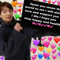 meme jungkook btsmeme bts kpop kpopmeme loveyou love heart freetoedit