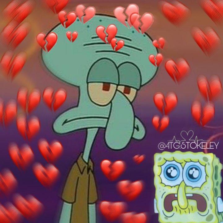 10 Ide Broken Heart Sad Pictures Cartoon Spongebob Mopppy